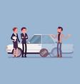 overdue car loan vector image