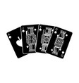 poker playing cards ace jack queen and king spade vector image vector image