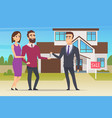 real estate concept family couple buying new vector image