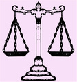 scales justice vector image vector image