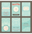 Set perfect wedding templates with doodles
