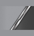silver black line overlap on grey with hexagon vector image vector image