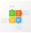 Squares template vector image vector image
