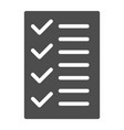 test solid icon to do list vector image vector image