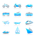 transportation icons marine vector image vector image