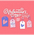 valentine s day sale offer banner template vector image vector image