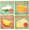 vintage set cheese labels vector image vector image