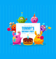 welcome to birthday party banner template vector image