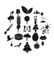 wild nature icons set simple style vector image vector image