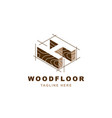 wood logo with letter h shape vector image