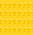 yellow cubes pattern seamless background vector image vector image