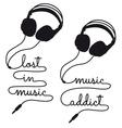 lost in music headphones vector image