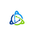 orbit atom technology logo vector image