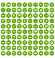 100 national flag icons hexagon green vector image vector image