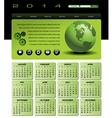 2014 globe Calendar vector image vector image