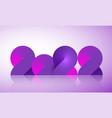 2022 neon banner happy new year light neon purple vector image