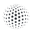 Abstract 3D Sphere with 5 point Stars vector image vector image