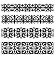 Abstract black geometrical seamless borders set vector image vector image