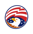 American Bald Eagle With Flag vector image vector image
