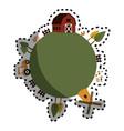 animal farm in field vector image