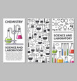 banners on a scientific topic chemistry vector image
