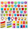 big collection sale stickers and web ribbons set vector image vector image