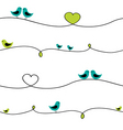Birds on wire vector image