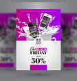 black friday sale event corporate identity flyer vector image vector image