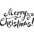 Black Merry Christmas hand-writing lettering vector image vector image