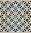 blue and beige seamless abstract floral vintage vector image vector image