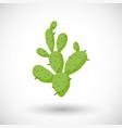 cactus flat icon vector image vector image