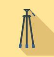 camera tripod icon flat style vector image vector image