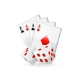 Cards isolated on white vector image