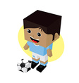 cartoon soccer player vector image vector image