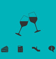 champagne icon flat vector image vector image
