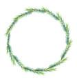 christmas minimal pine leafs wreath frame eps10 vector image vector image