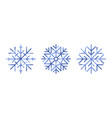 collection snowflakes isolated on white vector image