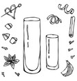collins coctail glass hand drawn vector image vector image