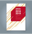 cover annual report 902 vector image