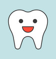 cute healthy tooth smile dental related icon vector image vector image