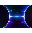 Dark blue shining cosmic spheres gravity vector image vector image