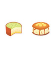 dessert pies icon in cartoon style sweet vector image