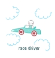 driver rides flies in the car vector image vector image