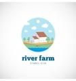 Eco River Farm Flat Style Concept Symbol Icon or vector image