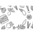 farmers market menu vector image