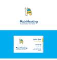 flat car garage logo and visiting card template vector image vector image
