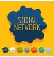 Flat design social network vector image vector image