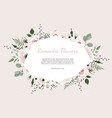 floral wreath with green eucalyptus leaves flower vector image vector image