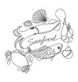 graphic seafood vector image