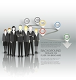 Group of a professional business team standing vector image vector image